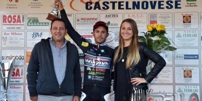 Francesco Lamon 2° nell'ultimo sprint di Acquanegra