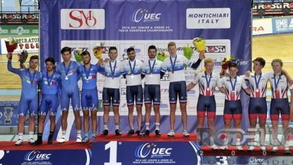Argento europeo per Ganna, Consonni e Lamon nell'Inseguimento a squadre. Iniziato il Giro Valle d'Aosta
