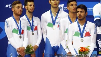 Consonni, Ganna e Lamon d'argento all'Europeo Inseguimento a squadre