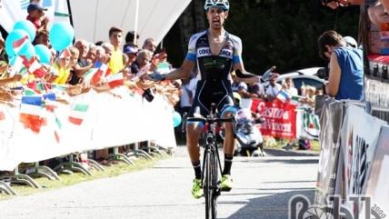 Giovanni Carboni vince la prima tappa del Giro Valle d'Aosta