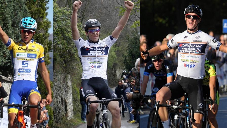 Bagioli, Masotto e Minali formano la linea verde del Team Colpack 2018