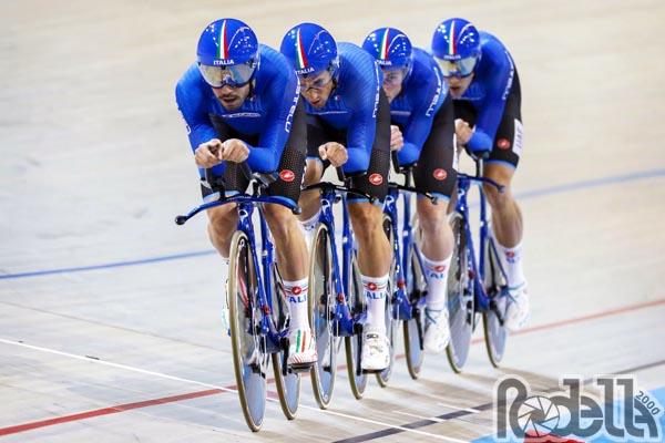 Francesco Lamon medaglia di bronzo col quartetto ai Mondiali pista di Apeldoorn