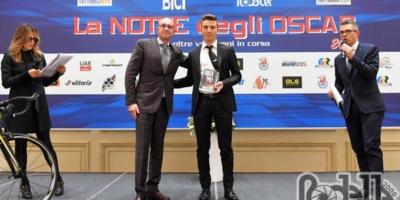 Andrea Bagioli vincitore dell'Oscar tuttoBICI tra gli Under 23