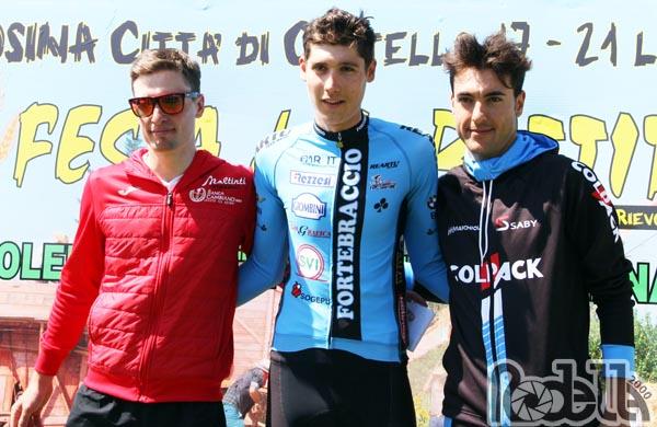 Paolo Baccio sul podio della cronometro di Città di Castello