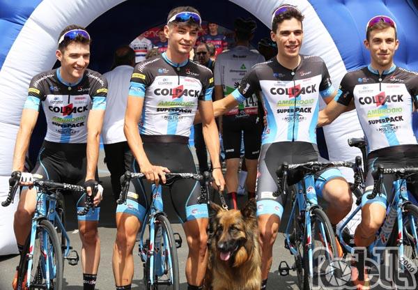 Il Team Colpack pedala verso una domenica Tricolore
