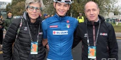 Alessandro Covi, in fuga al Mondiale. L'Italia è campione del mondo U23 con Battistella